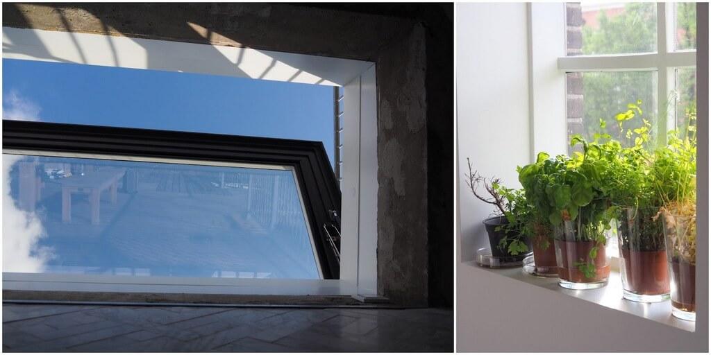 Elektrisch dakluik Skydoor: je ziet alleen de lucht
