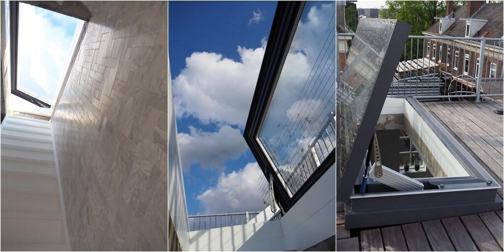 Elektrisch dakluik Skydoor: mooi van binnen en van buiten