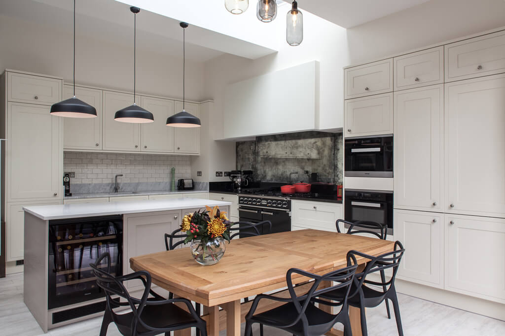 Frameless rooflight brings daylight in kitchen extension