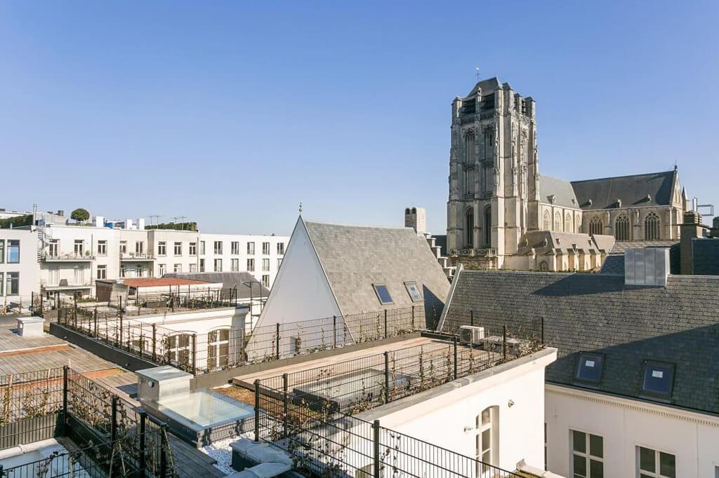 Elektrisch dakluik Skydoor op dakterras Antwerpen