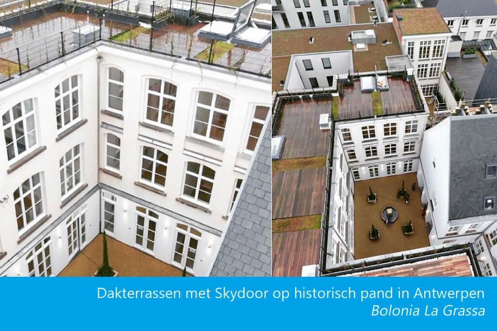 Skydoor dakluik dakterras Antwerpen