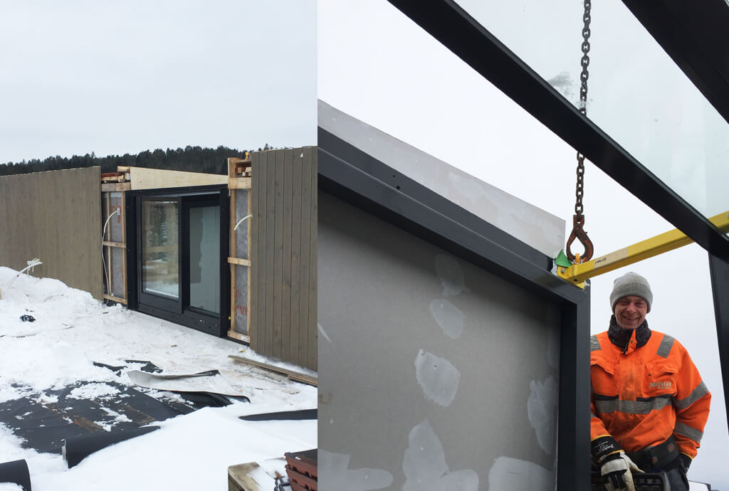 Installatie Three Wall Box dakterras toegang