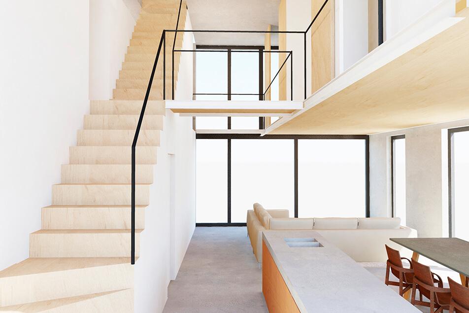 Natuurlijk daglicht in Superlofts met glazen daktoegang