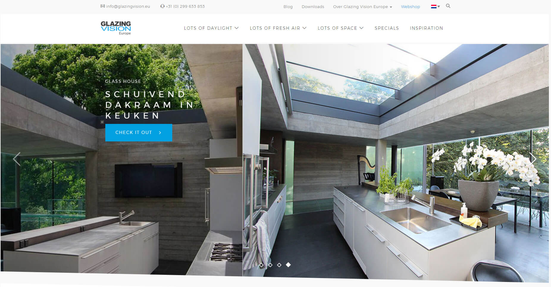 Nieuwe website Glazing Vision Europe