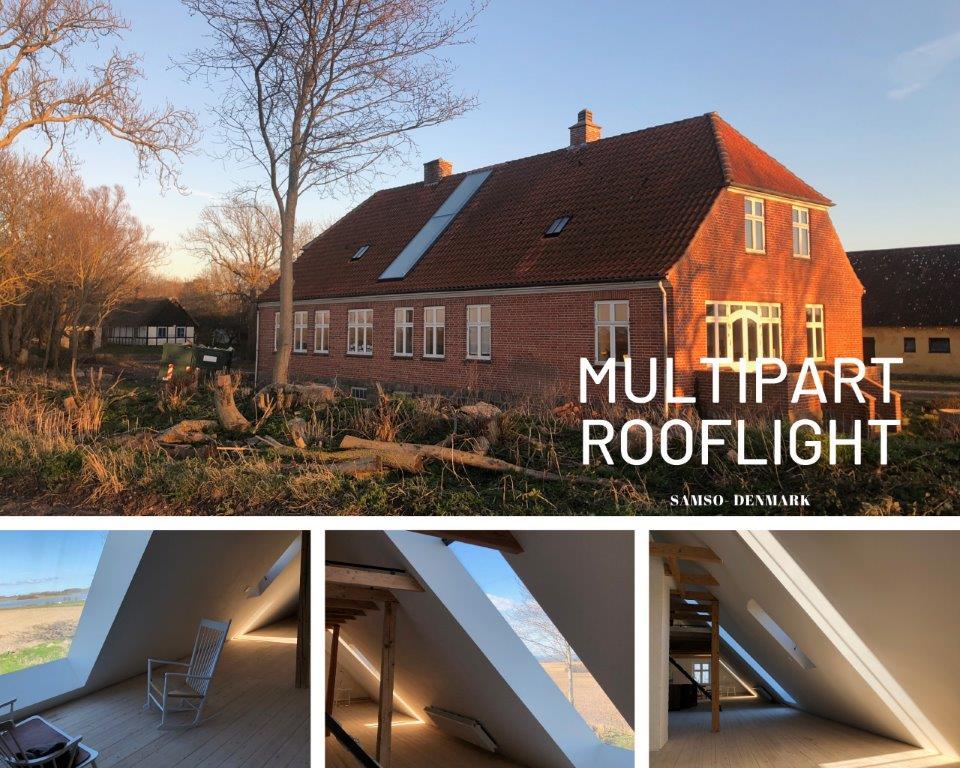 Modulaire lichtstraat in schuin dak