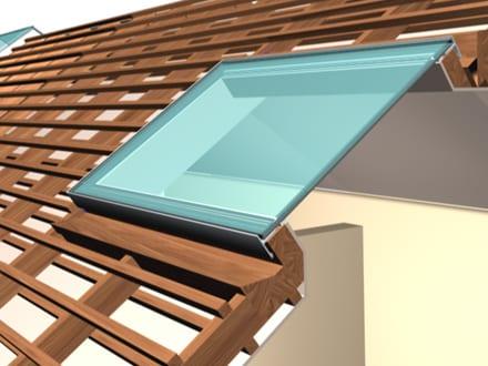 Flushglaze in een schuin dak