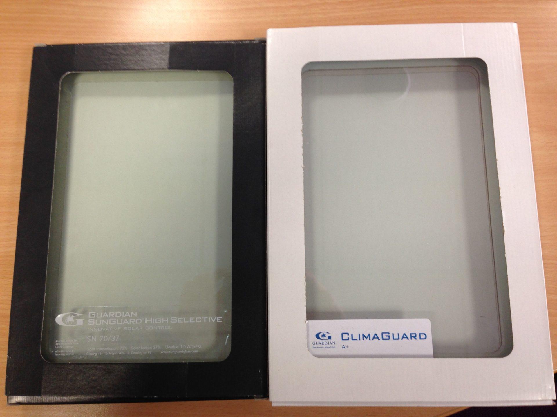 Solar glass compared